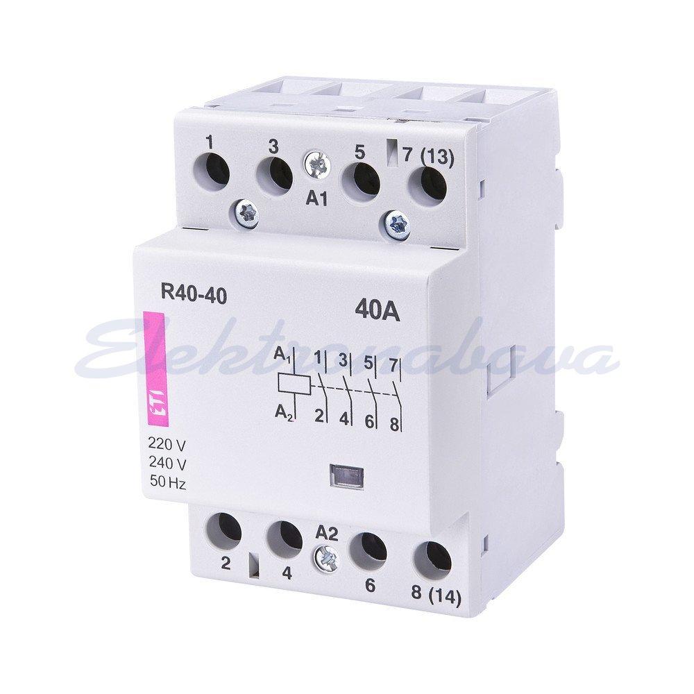 Slika izdelkaInštalacijski kontaktor ETICON 40A 4NO 230V AC 3M