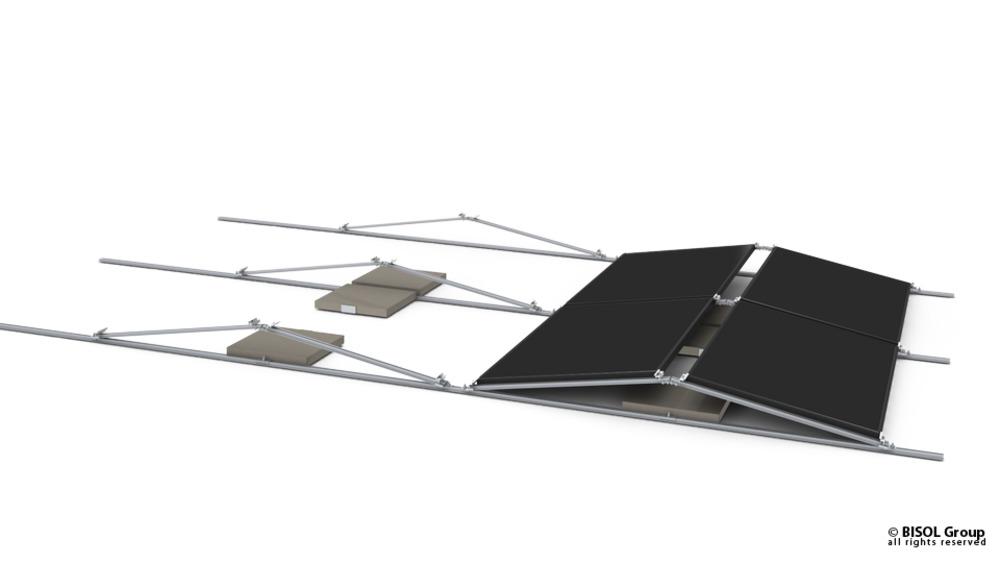 Pribor za solarno konstrukcijo BISOL EasyMount ALU Base vetrna zaščita 12,5°, 1700x200mm BE