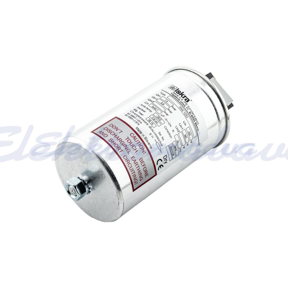 Slika izdelkaEnergetski kondenzator KNK 1053 7,5kVar 400V 50Hz 3F Okrogel
