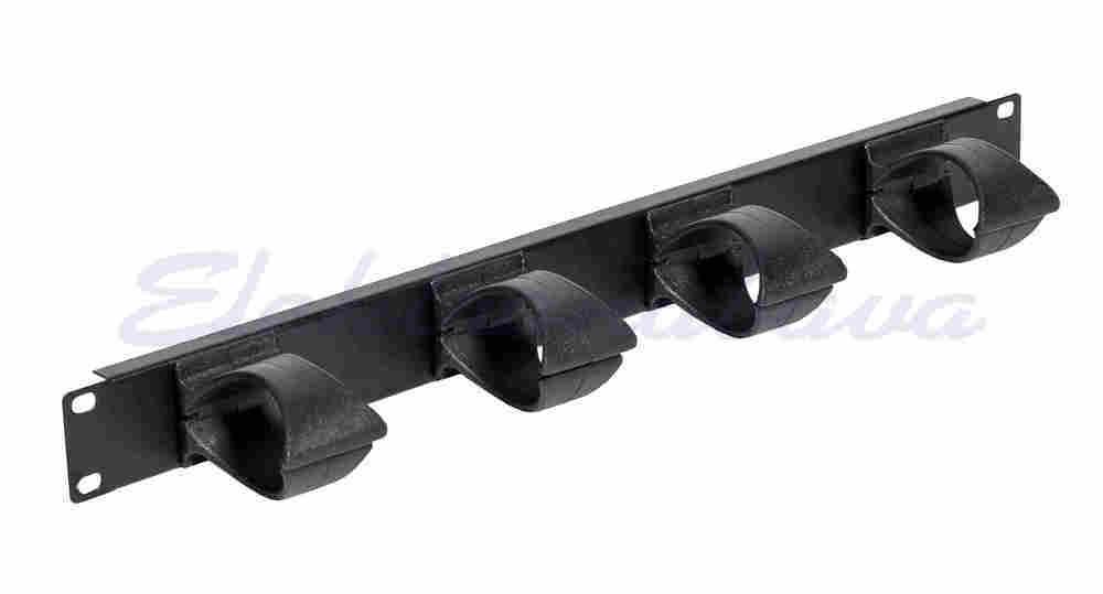 """Slika izdelka19"""" kabelski razdelilec EVOLINE Horizontalni Organizator Kablov 1U PVC, RINKA"""