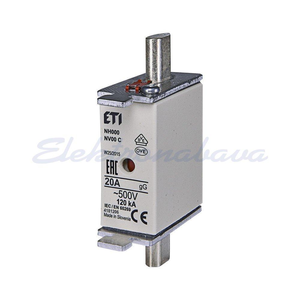 Slika proizvodaTopljivi uložak NV NV/NH NV00 C 20A gL/gG (zaštita kabela/zaštita opreme) 500V