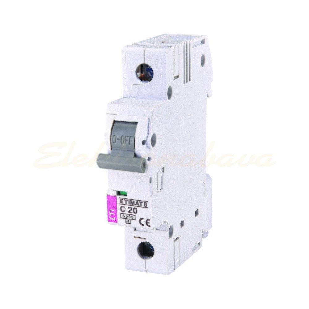 Slika proizvodaAutomatski osigurač ASTI ETIMAT 6 6kA C 20A 1P