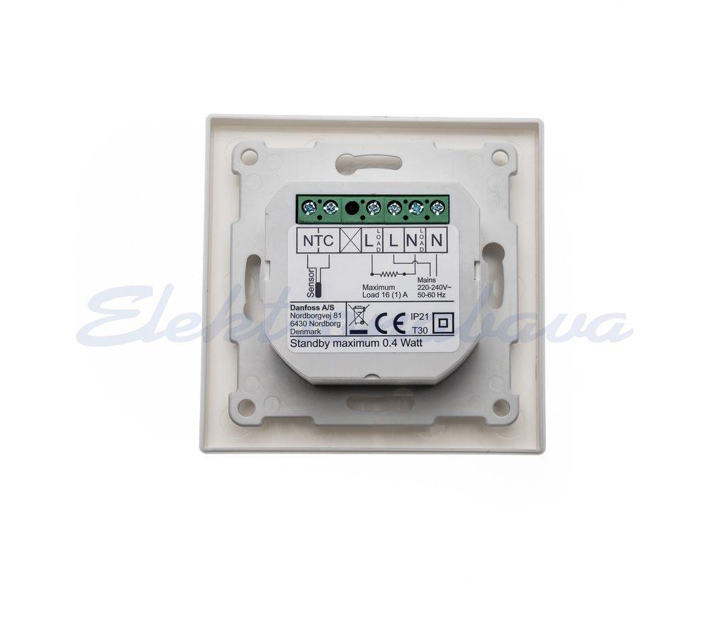 Sobni termostat DEVIreg Touch Podžbukno digitalni Bijela s podnim senzorom