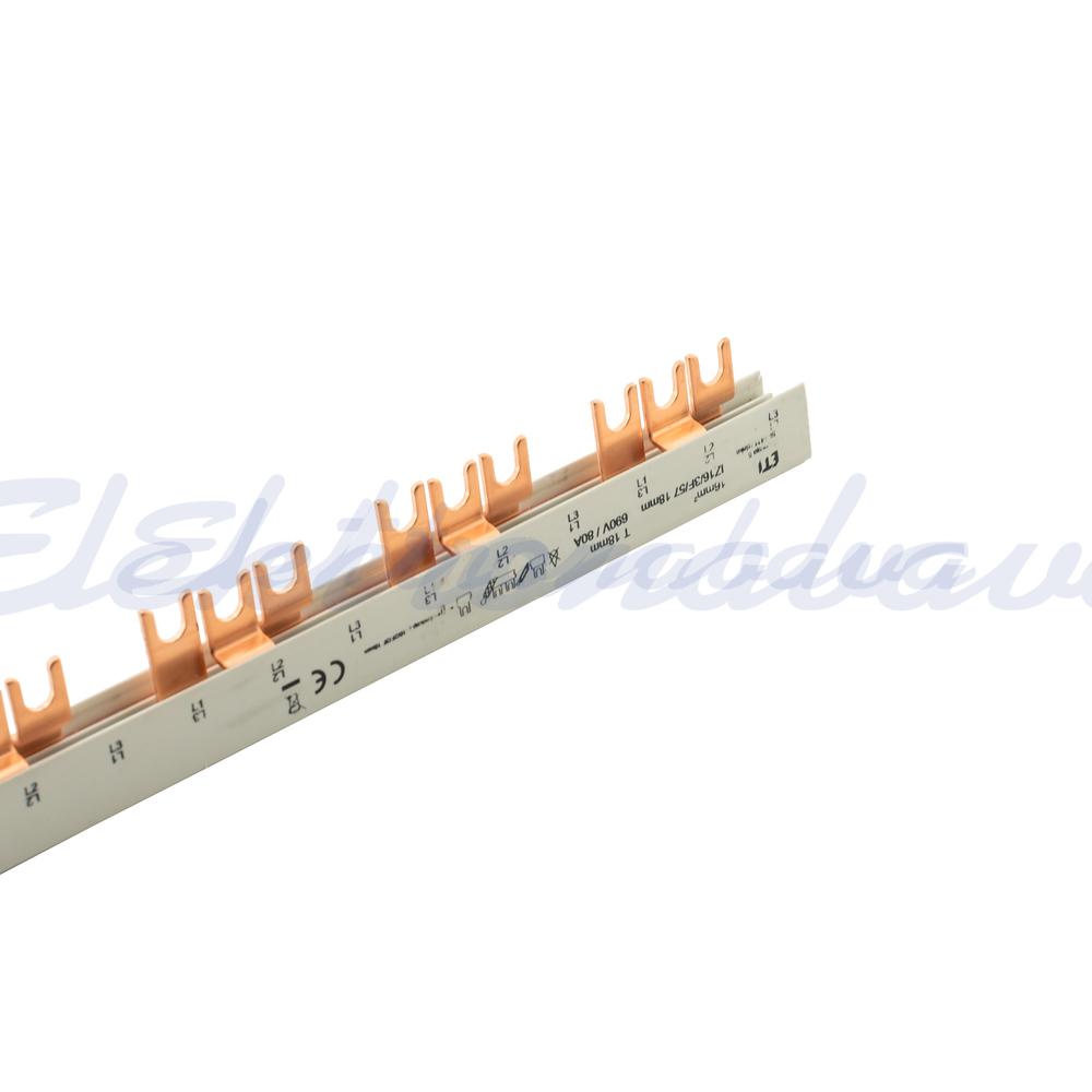 Slika proizvodaSabirnica za povezivanje DIDO 16mm2, 3f za 57M, P10 viljičasta 80A